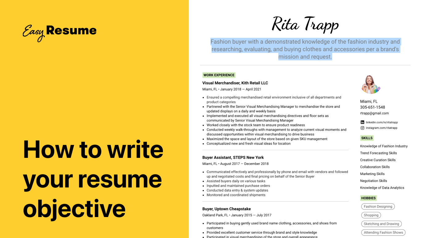 How to Write Your Resume Objective Statement in 2021