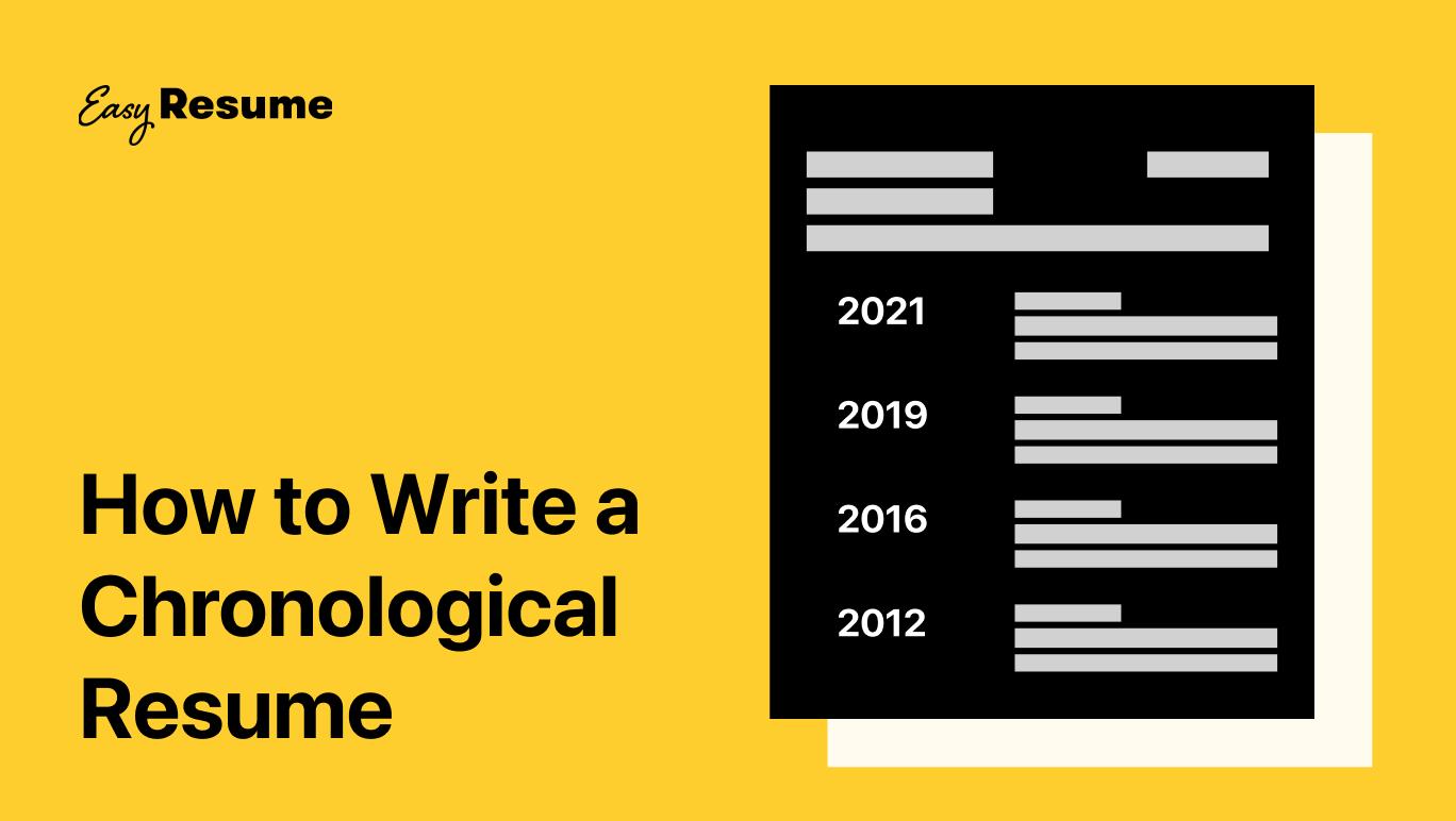 Writing a Reverse-Chronological Resume