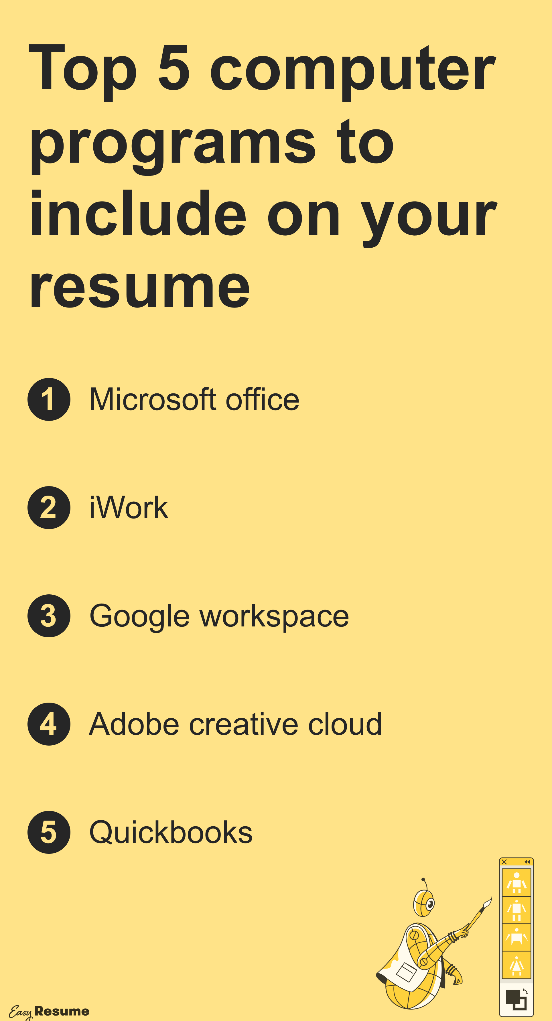 Top 5 computer programs to include on your resume