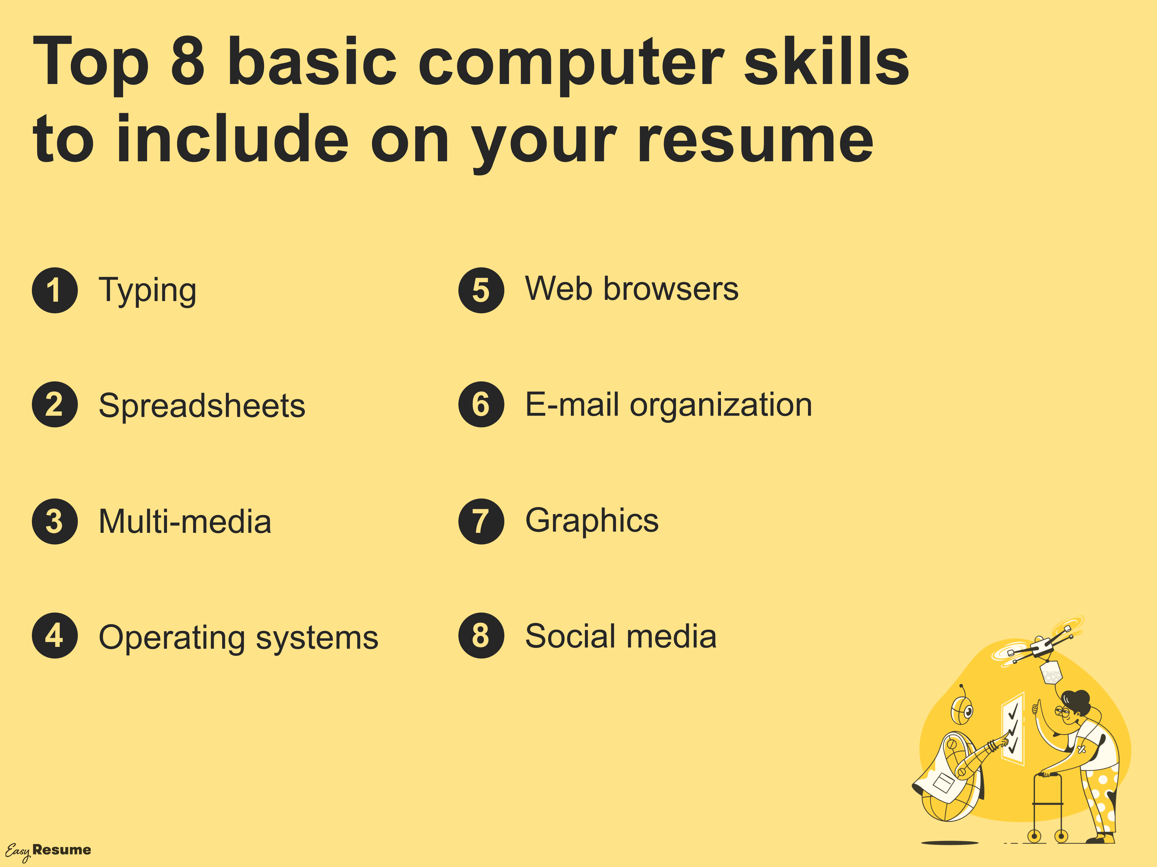 Basic Computer Skills for your Resume
