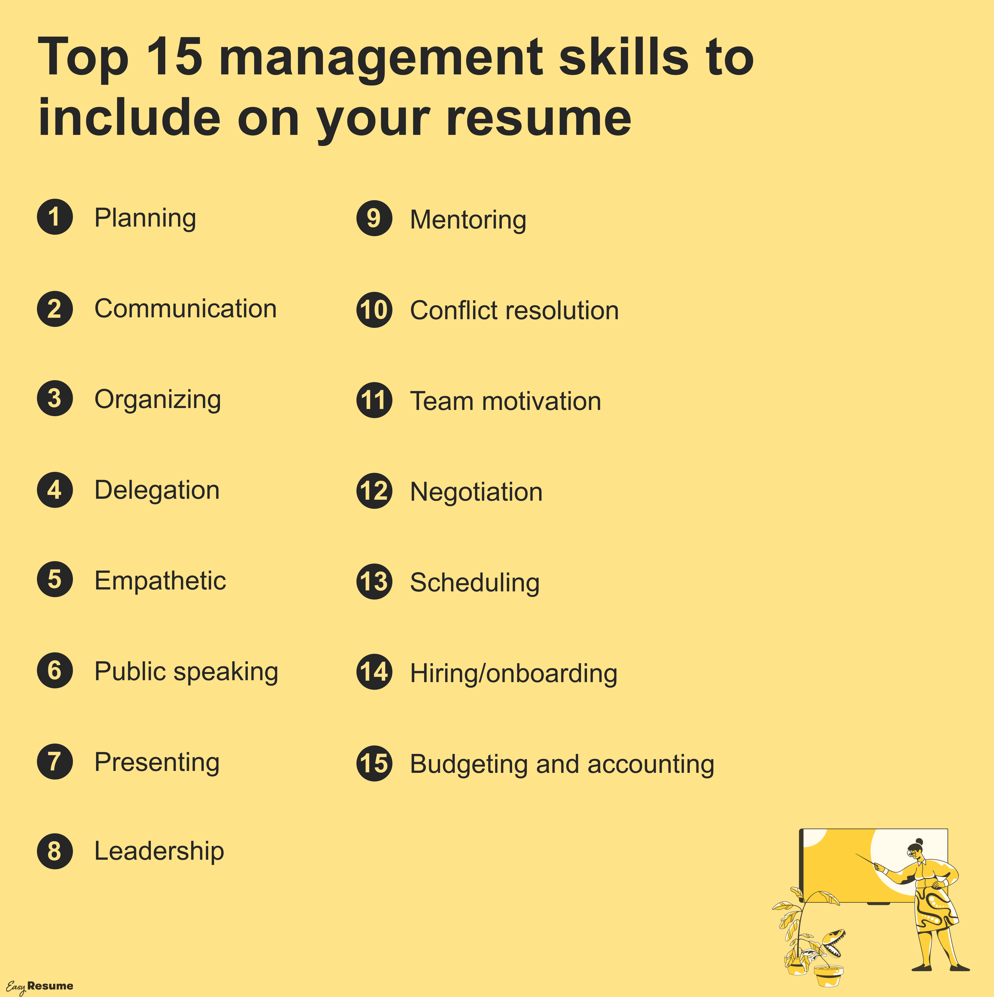 Top management skills to include on your resume
