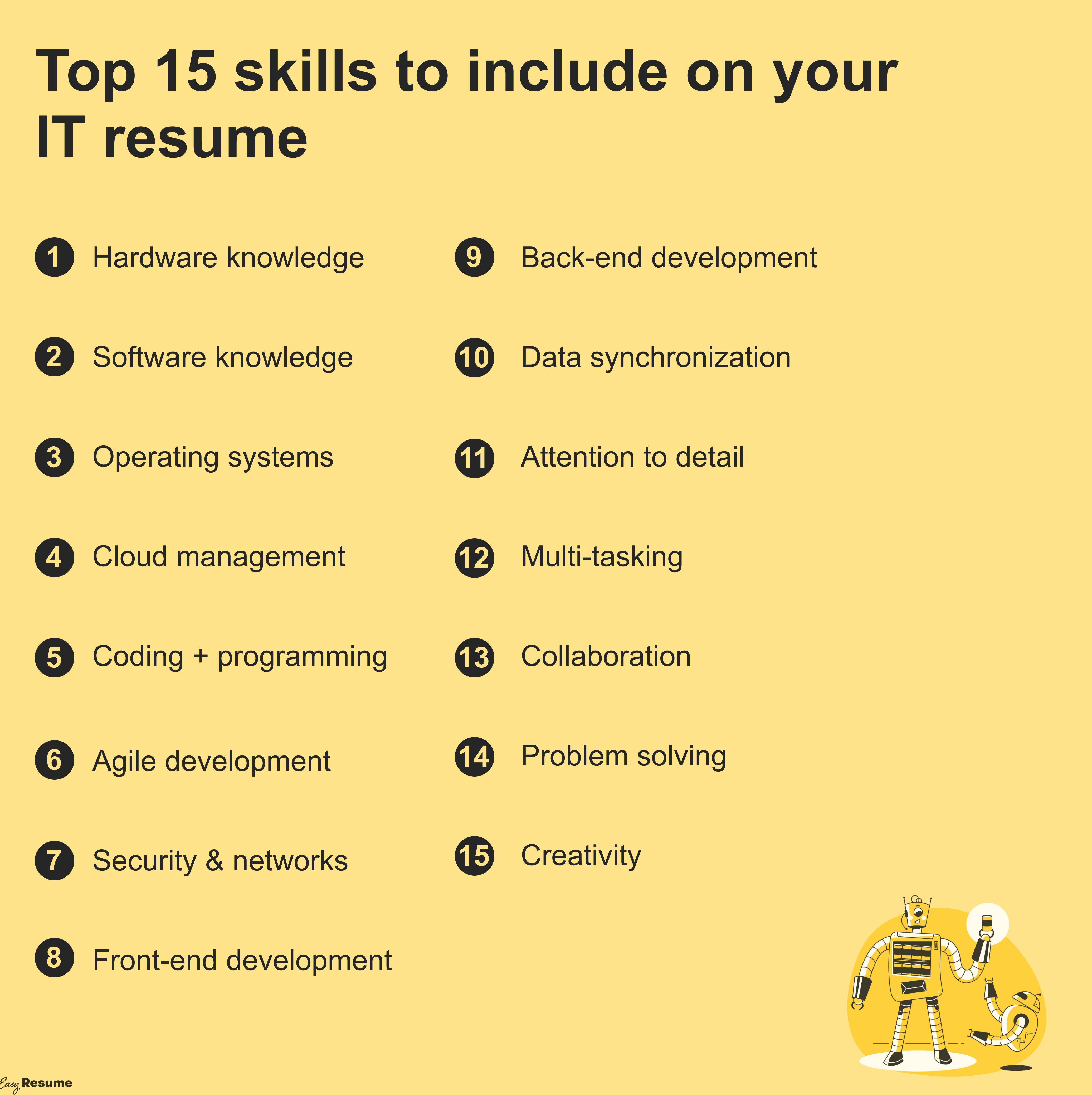 Top IT Skills to include on your resume