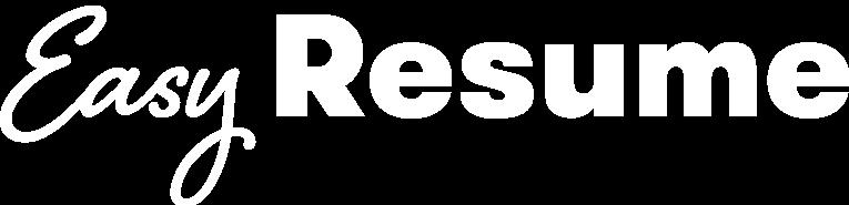 Easy Resume Logo White