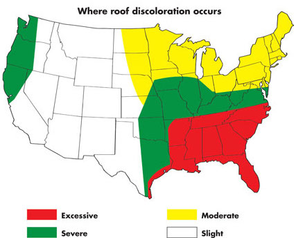 us map of roof algae