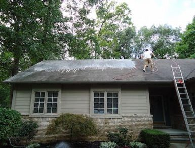 cleaning black streaks on your roof