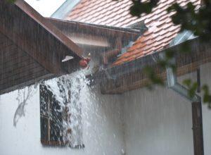 rain causing roof leak