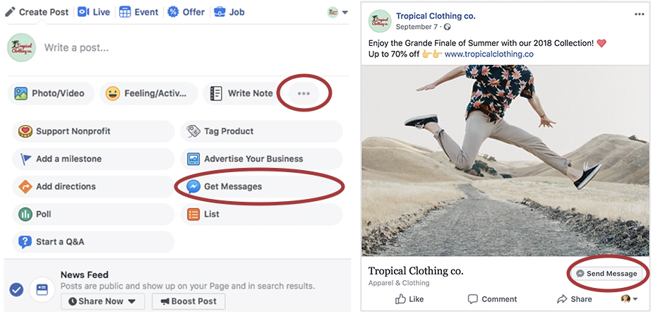 increase messaging traffic on Facebook