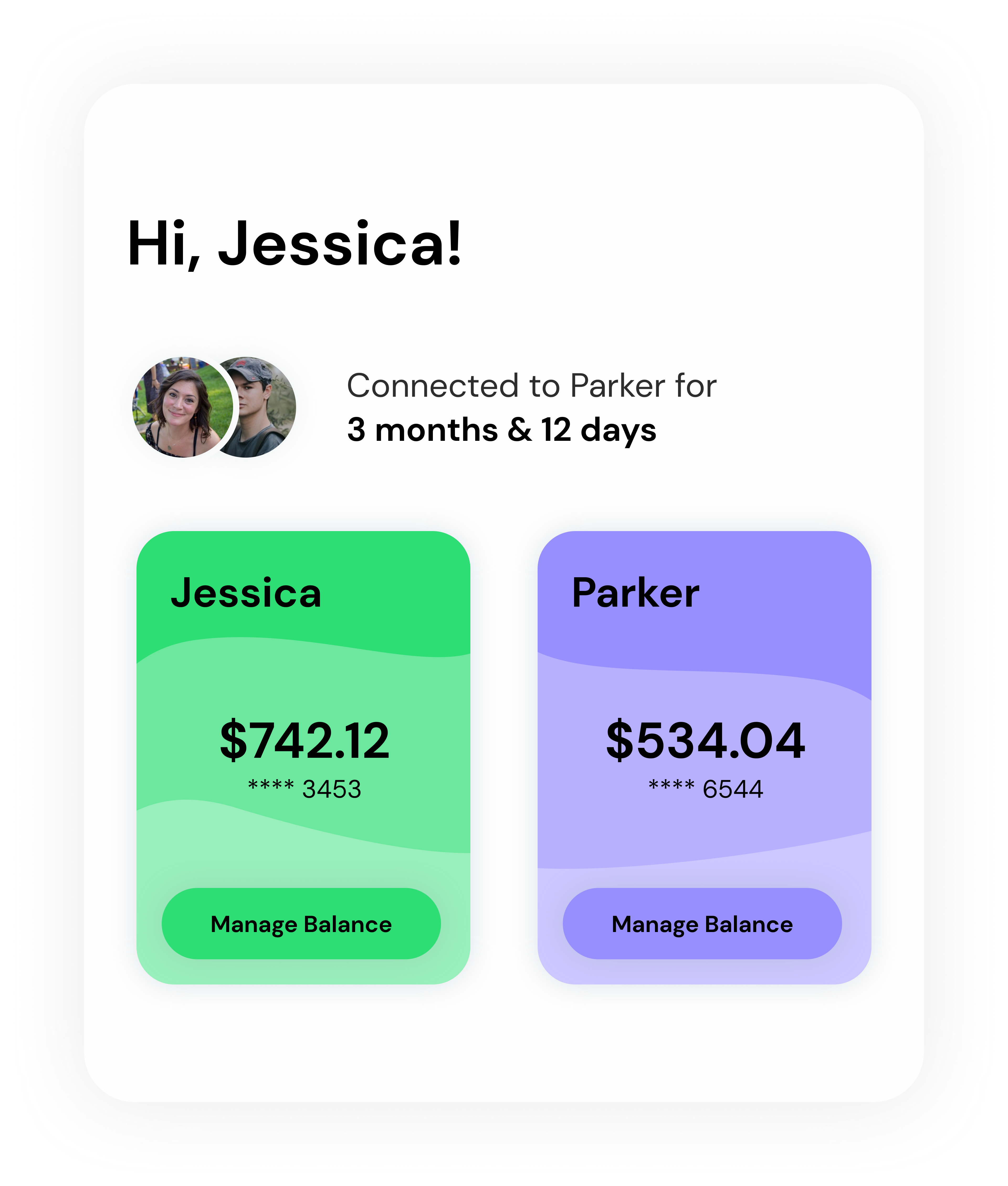 Ivella balance screen example with partner.