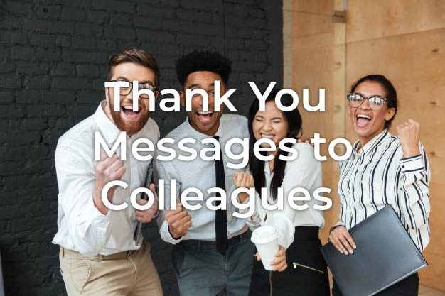 Thank You Message to Colleagues for Hard Work