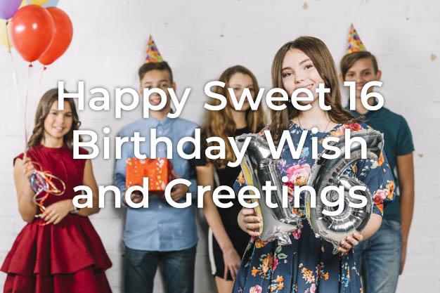 Sweet 16 Birthday Wish