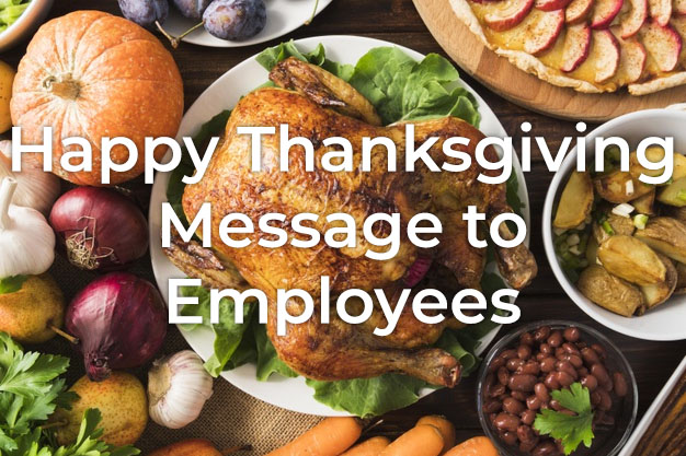 Thanksgiving Message to Employees