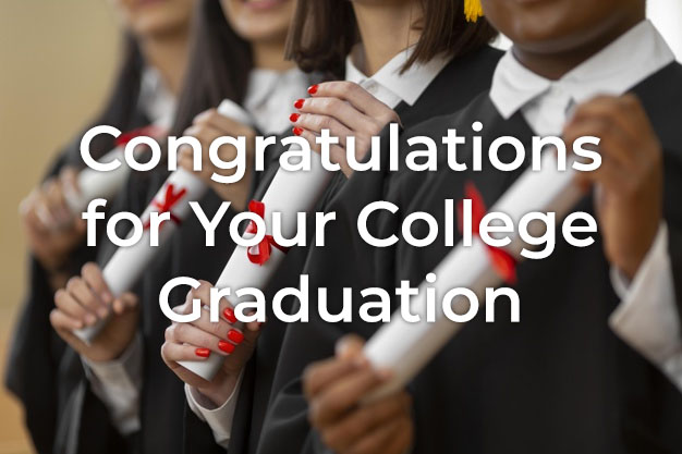 Congratulations Message for College Graduation