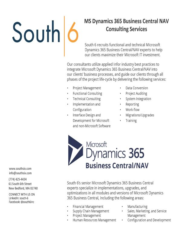 Cover of MS Dynamics 365 Business Cental NAV Consulting Services PDF