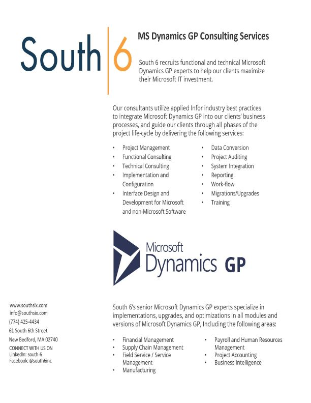 Cover of MS Dynamics GP Consulting Services PDF
