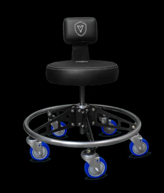 Adjustable Vyper Chair stool with backrest