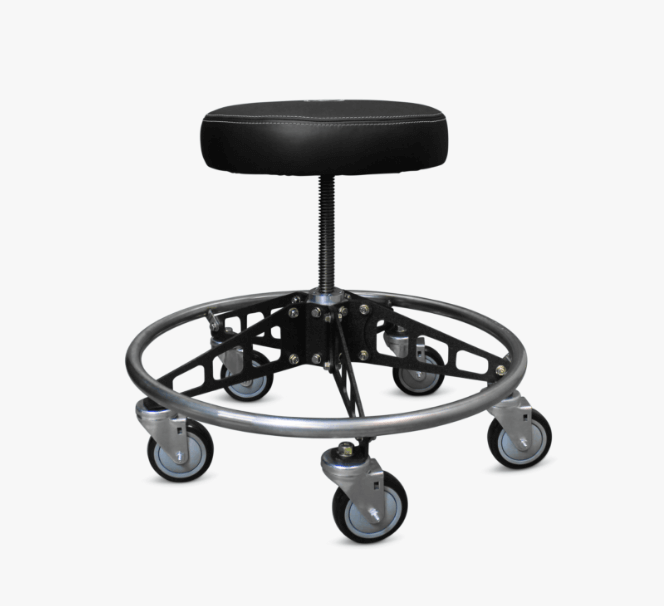An Affordable Adjustable Vyper Chair stool with backrest