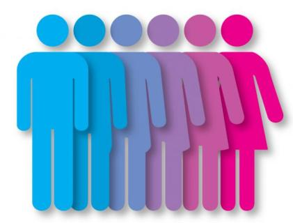 male to female color gradiation