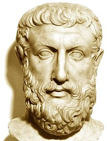 Marble bust of Parmenides