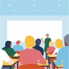 Cartoon of a classroom