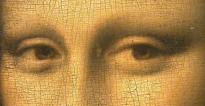 The eyes of the Mona Lisa