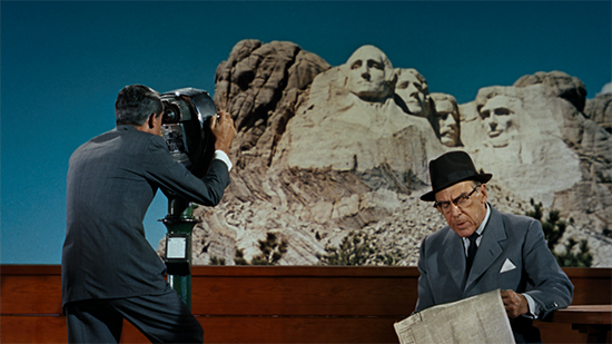 screen shot from Hitchcock's North By Northwest