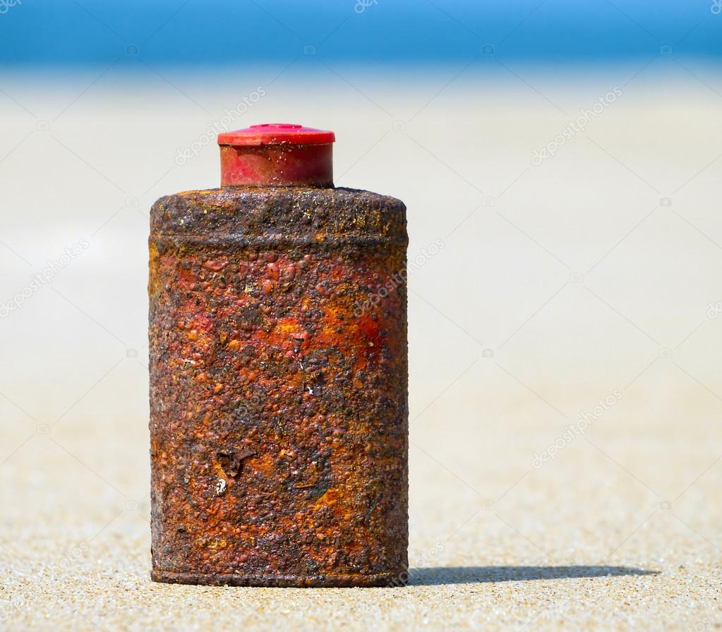 rusty bottle