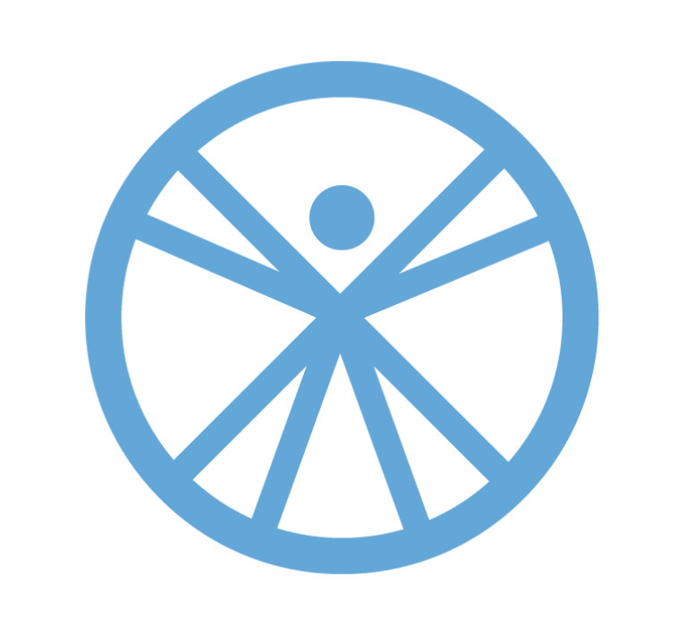 Abstract wheel person