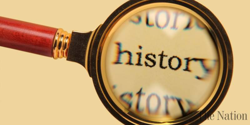 magnifying glass hovering over the word history