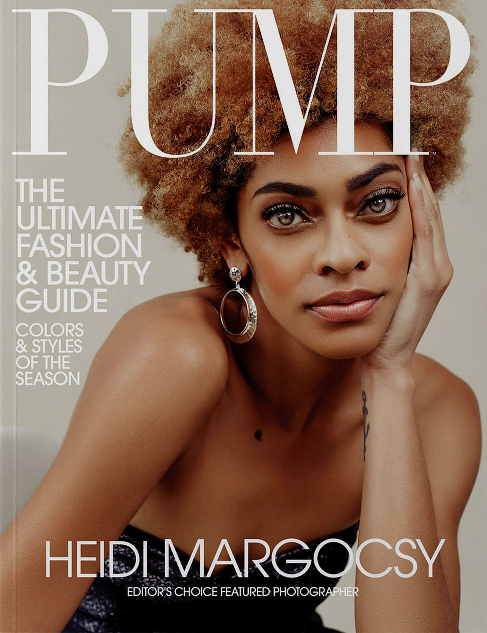 Magazine cover for PUMP magazine depicting a woman of color.