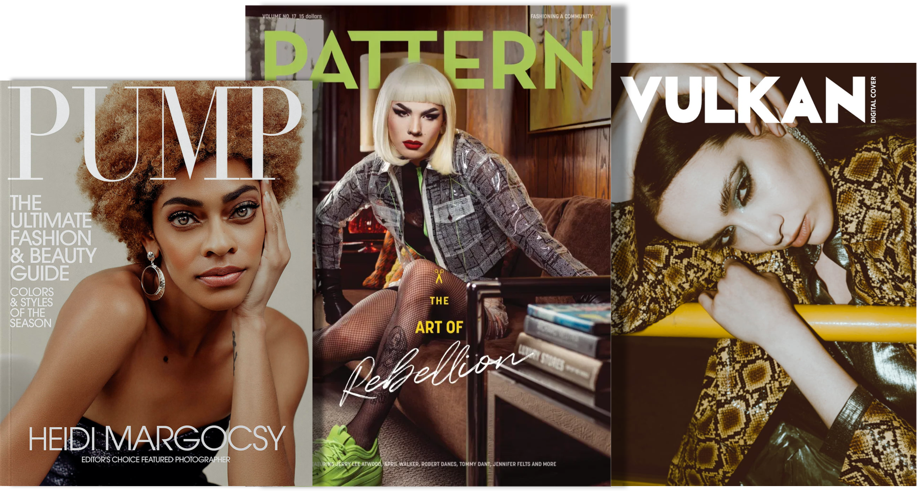 A group of assorted magazine covers.