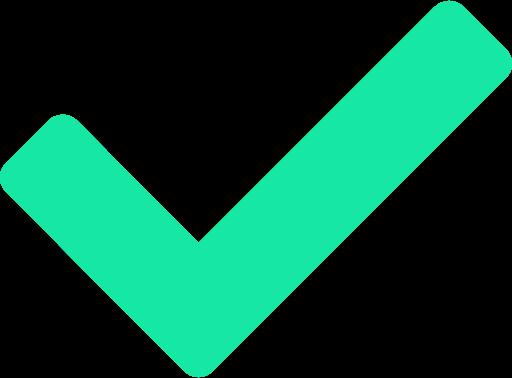 Green accept checkmark