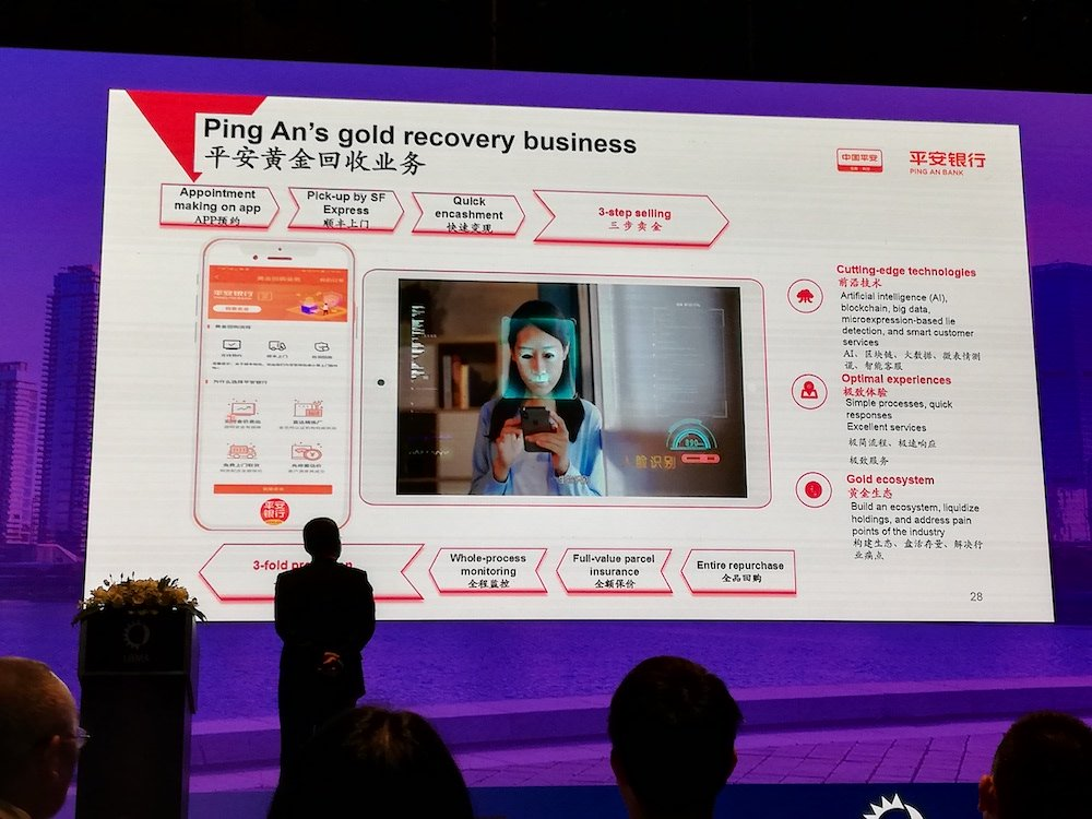 Ping An Bank's Head of Precious Metals showing a video of the recovery process