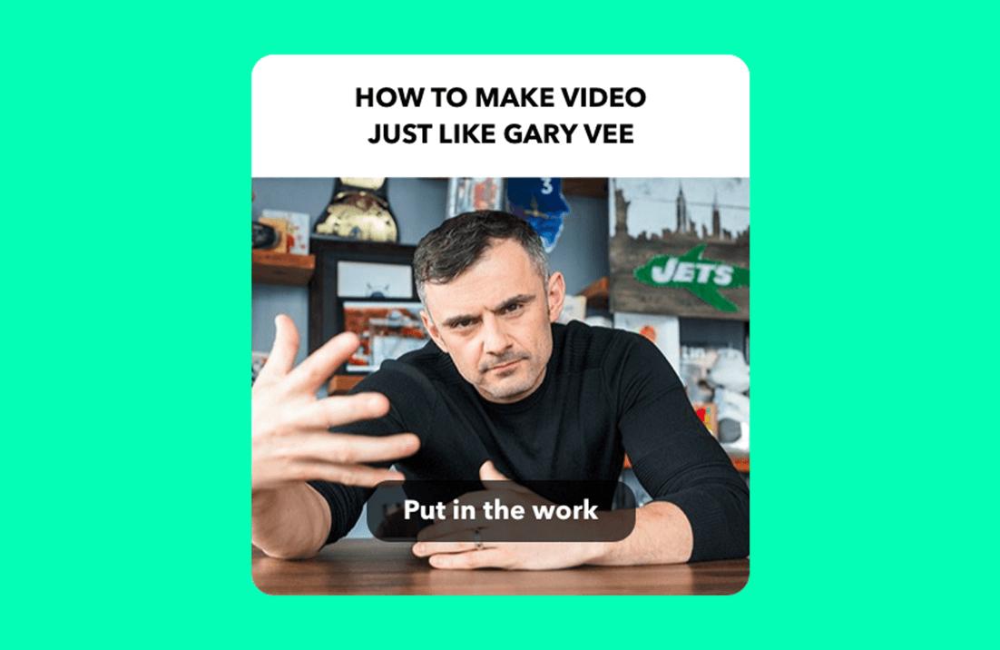 How To Create Videos like Gary Vaynerchuk