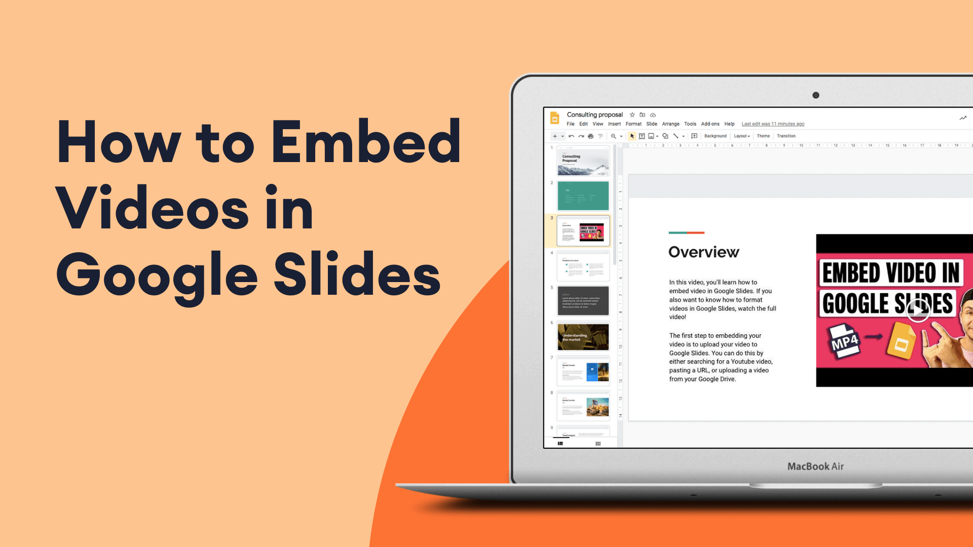 How To Put, Edit And Loop A Video In Google Slides (Super Quick)