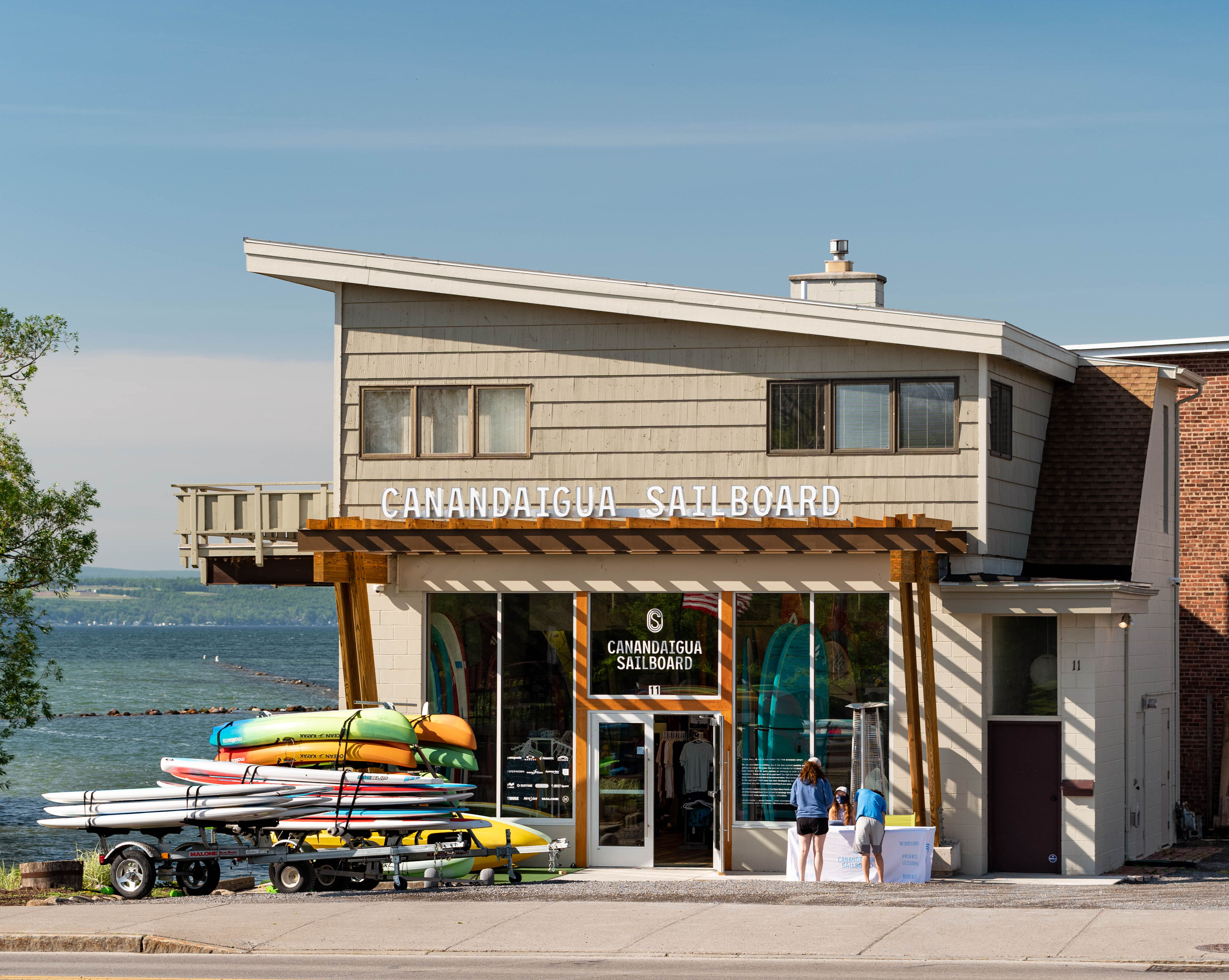 Canandaigua Sailboard Front of shop