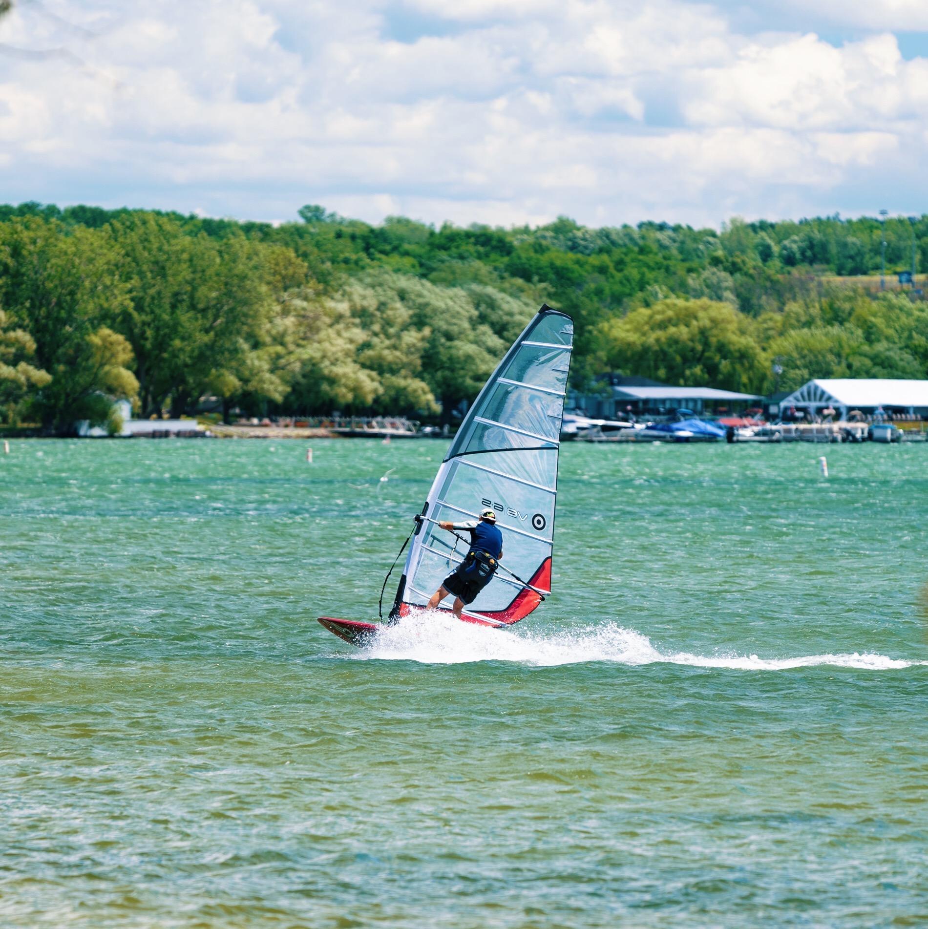 Windsurfing On Finger Lakes