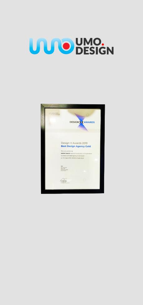 NetBramha Best Design Agency Gold Award  UMO design