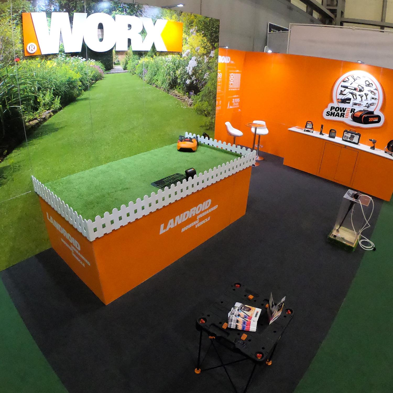 Worx Exhibition Stand - Garden Press Event 2020