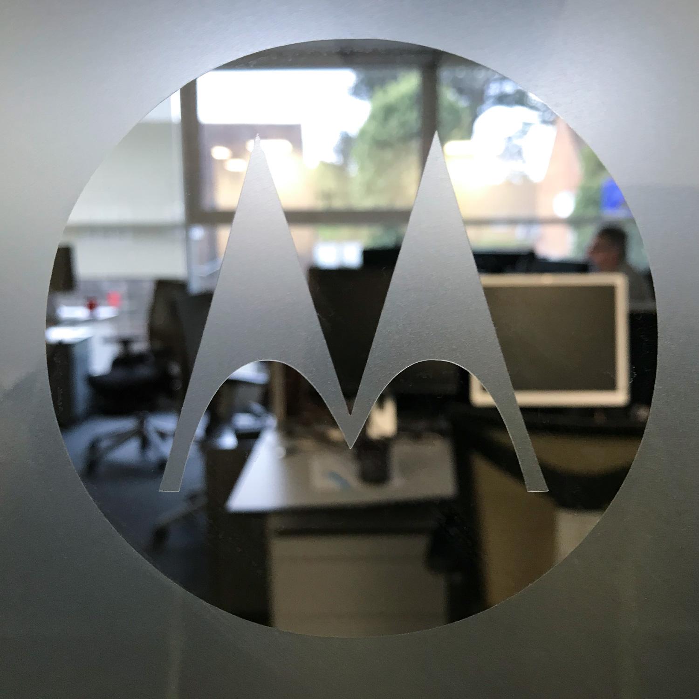 Motorola Window Vinyl Frosting