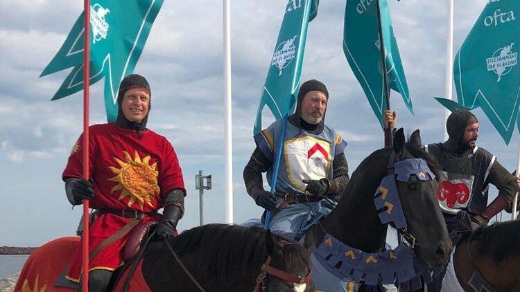 Gotland's Coronavirus Knights. (source: BBC)