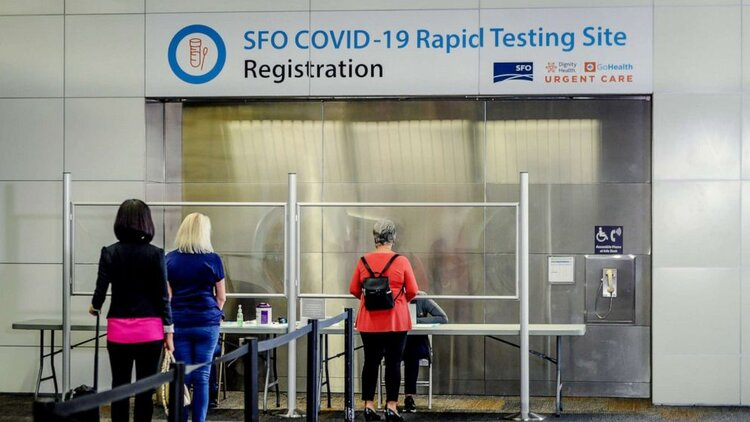 Rapid Testing Site at San Francisco International Airport. Source: United