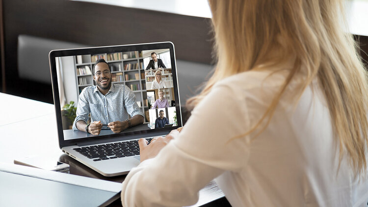 Team calls using video are a great way to keep home-based teammates connected.