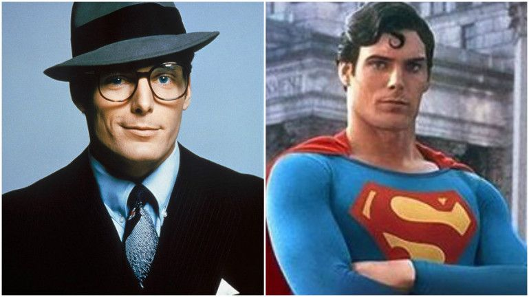 Clark Kent, left, and Superman, right.