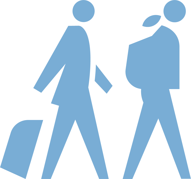 two people walking illustration