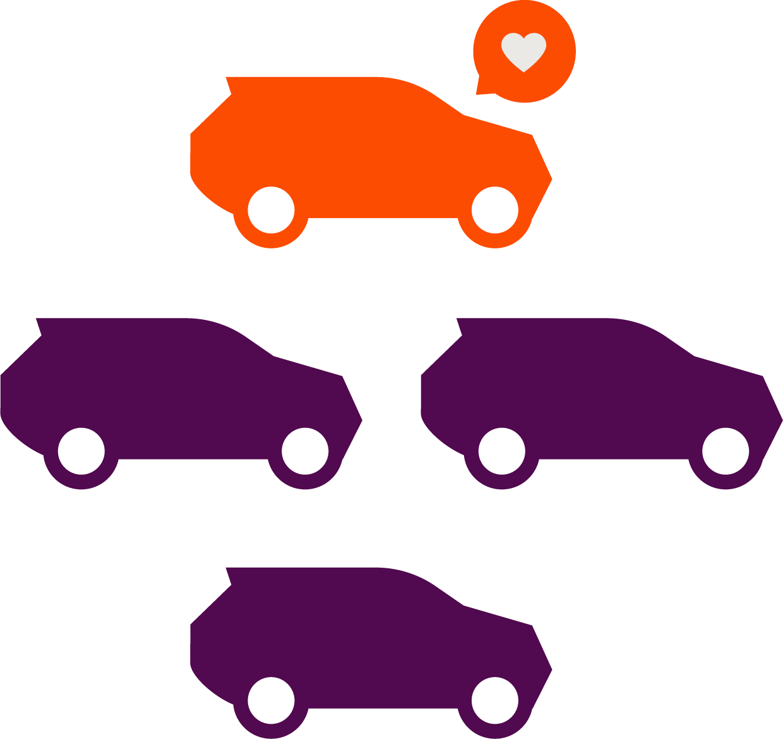 four cars icon