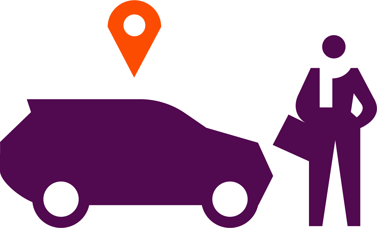 car and person illustration