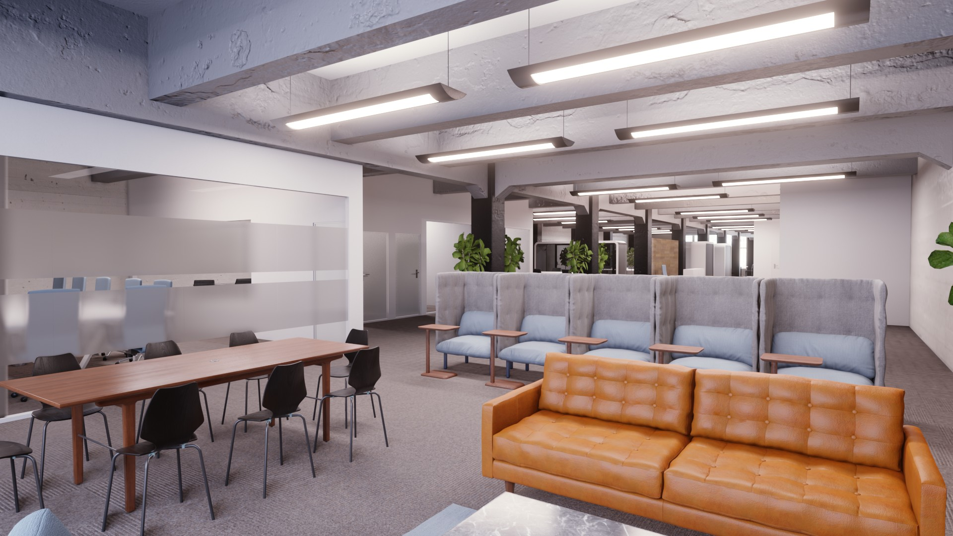 3d office floor plan