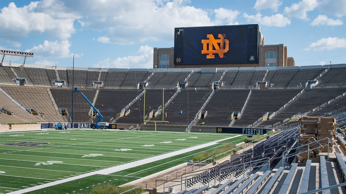 Notre Dame selects ANC to install first major video display at Notre Dame Stadium