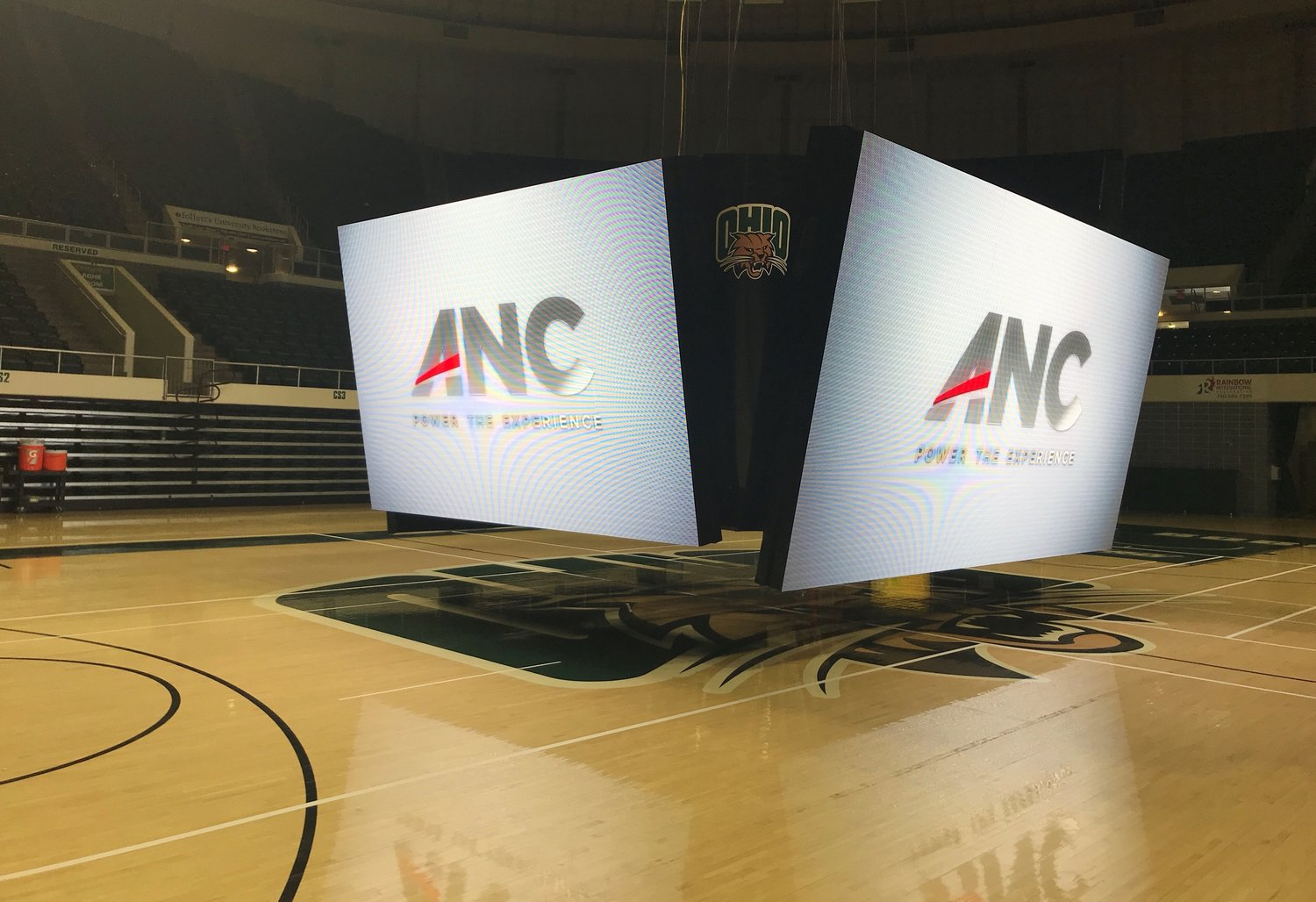Ohio University partners with ANC on new center-hung display for Convocation Center