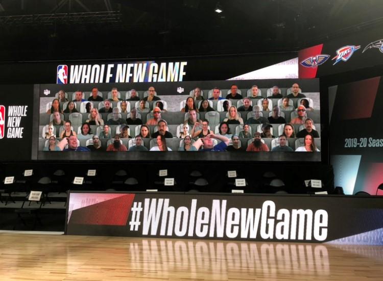 NBA 2020 Bubble - Virtual Fan Integration.